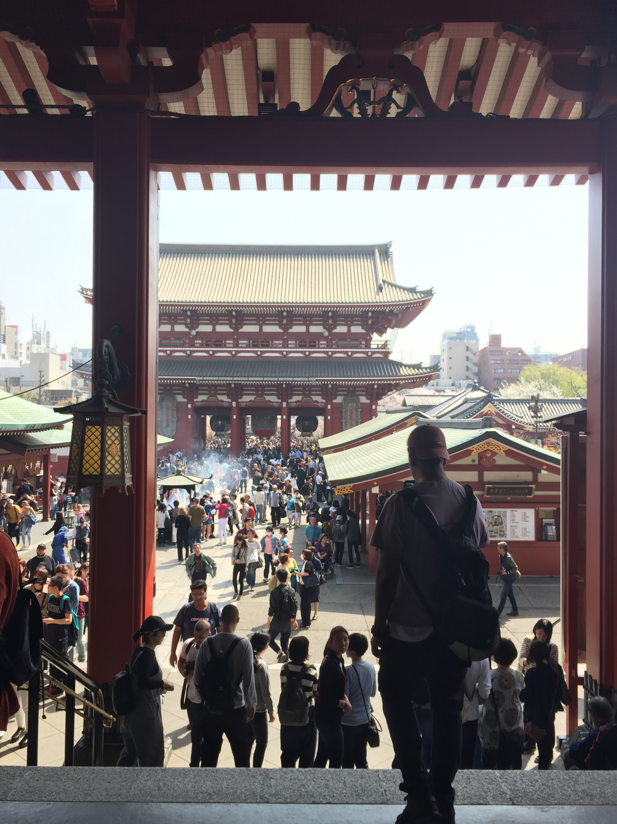 Picture of the insides of Sensoji