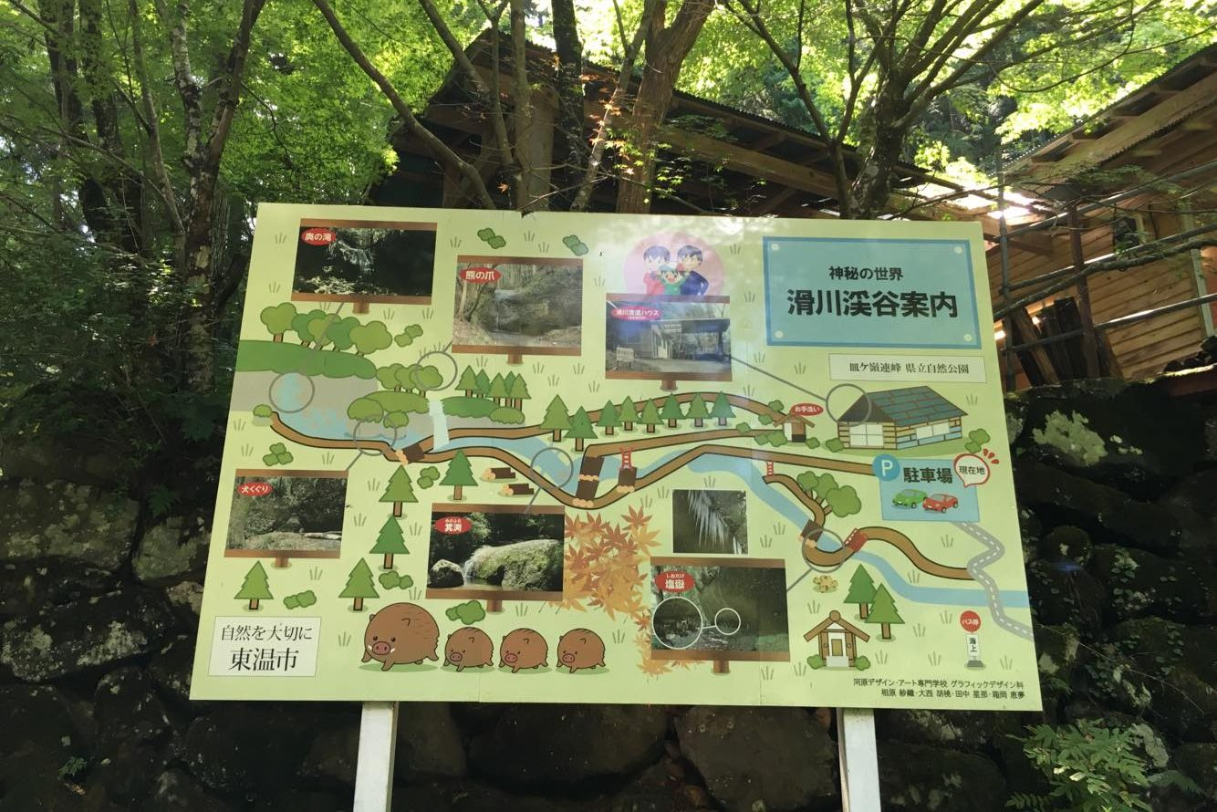 Picture of the signboard of the trail