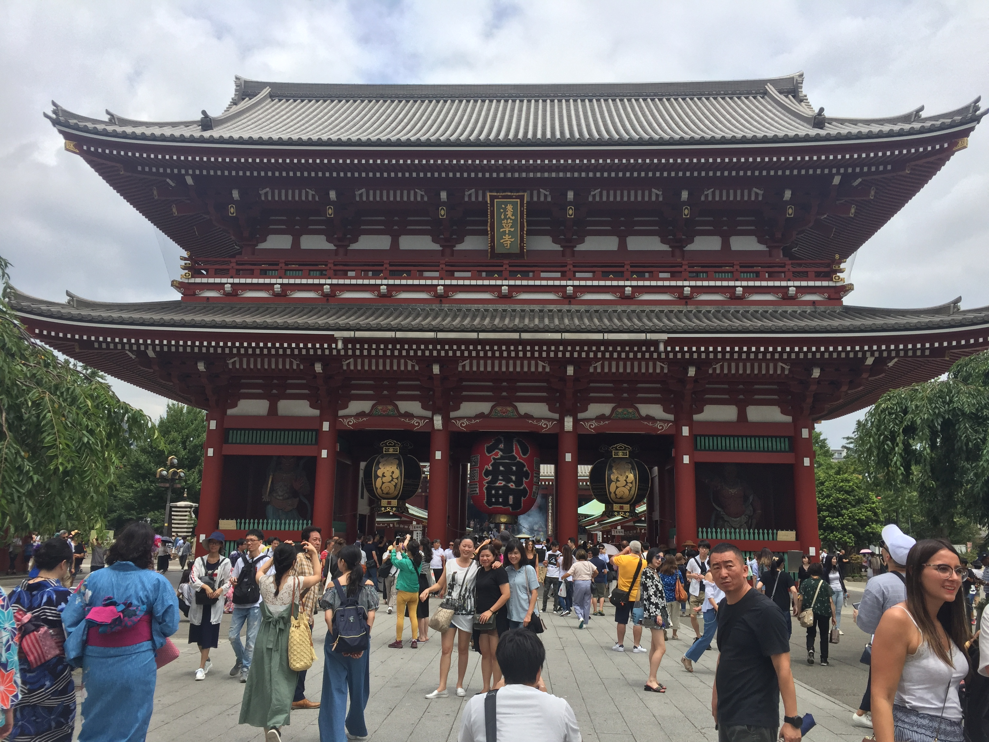 Picture of the main temple at Sensoji