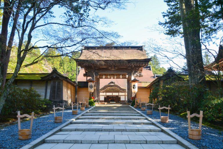 A picture of the Kongobuji temple at Koyasan
