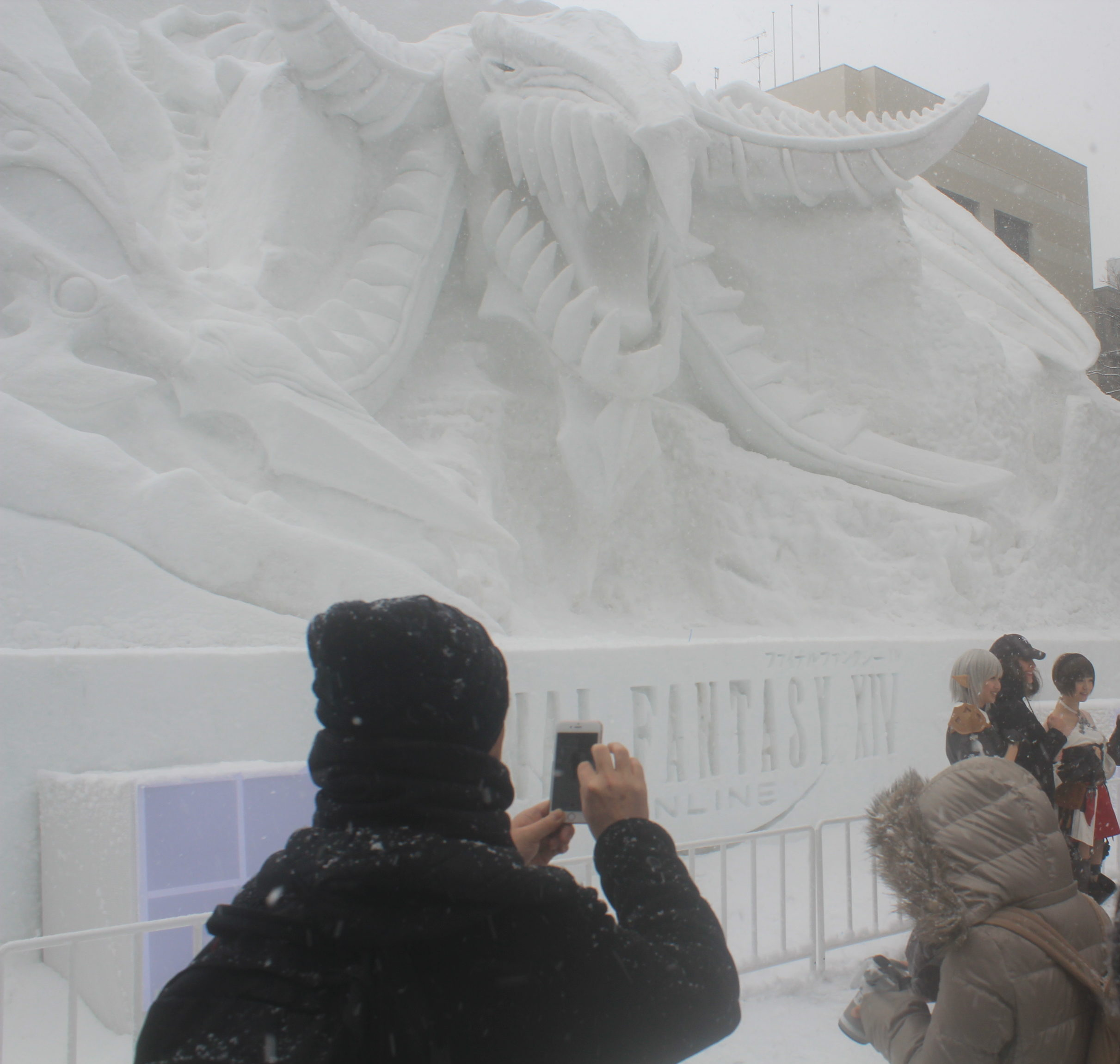 Snow sculptures from Final Fantasy