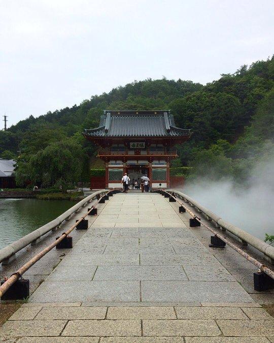 a landscape photograph of the temple