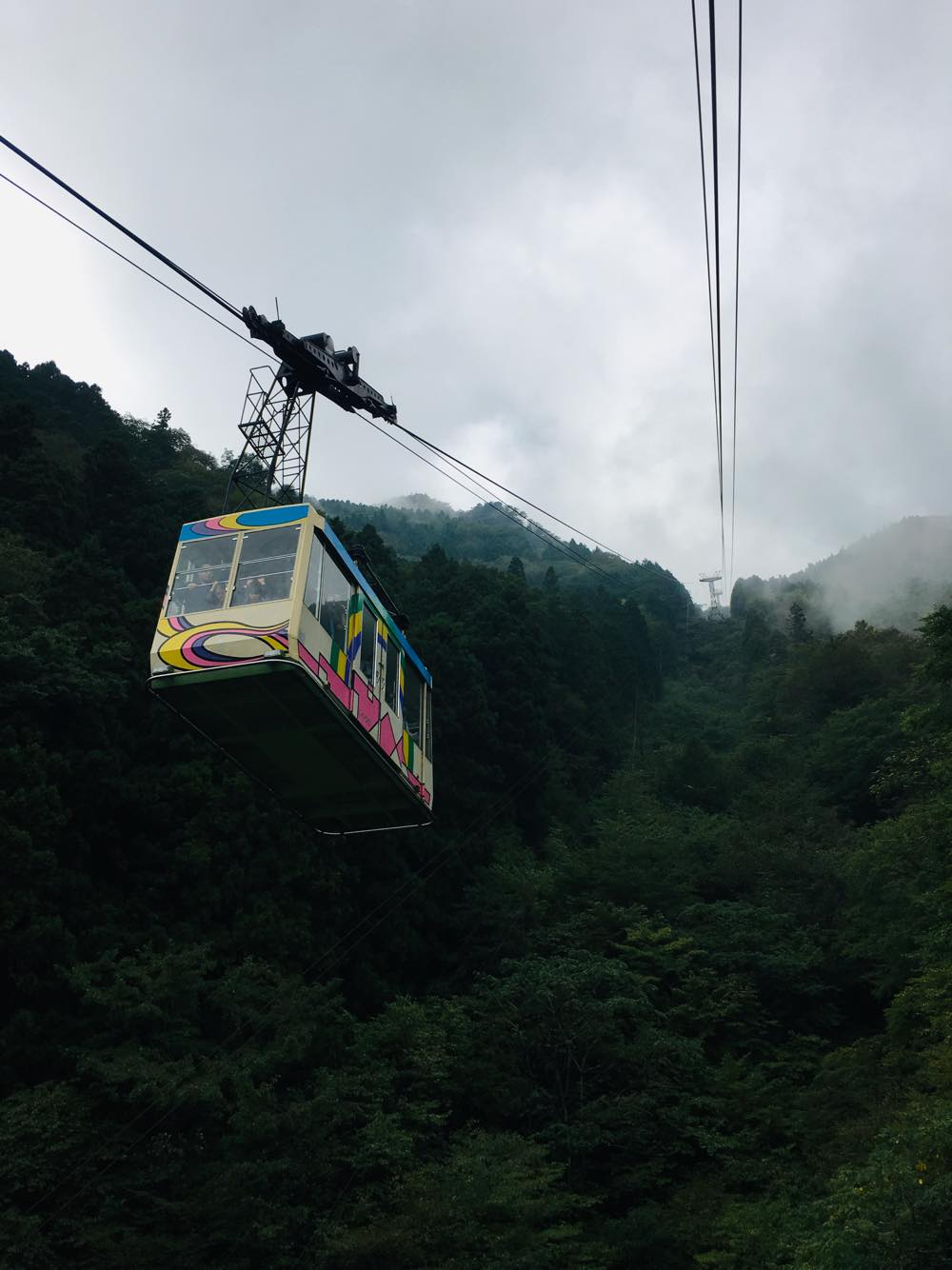 Picture of a cable car enroute