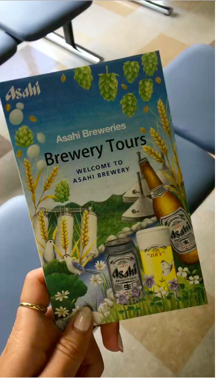 Picture of a guide of the Brewery Tours