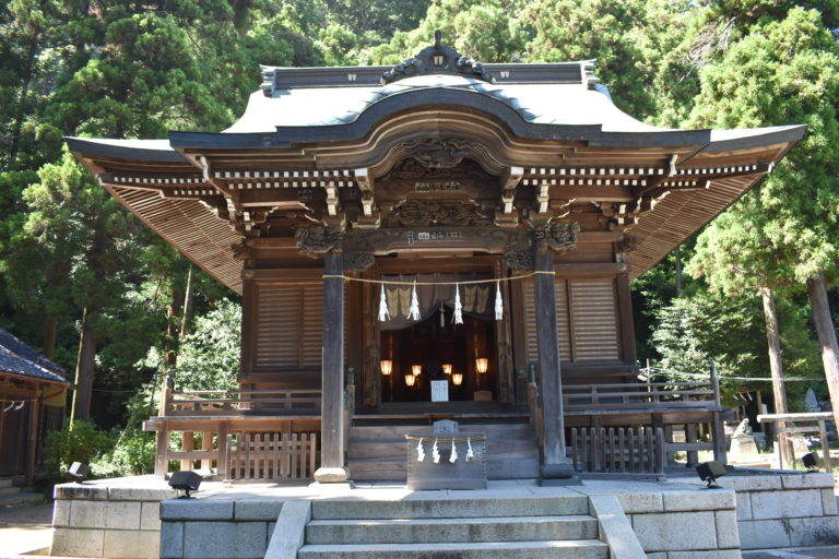 A picture of the Goryojinja shrine