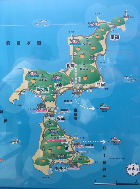 A map of the island