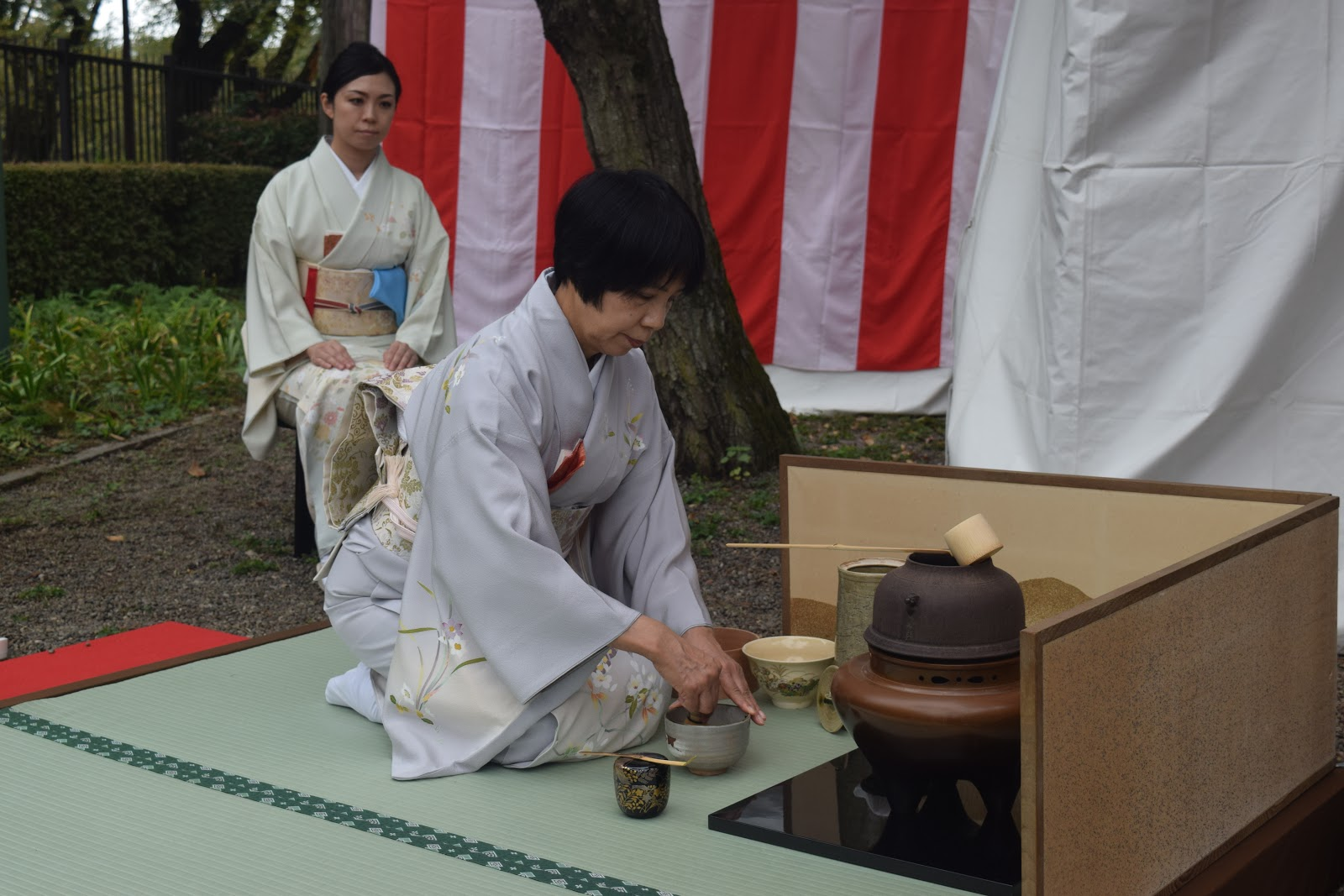 Picture of a woman preparing a tea ceremony
