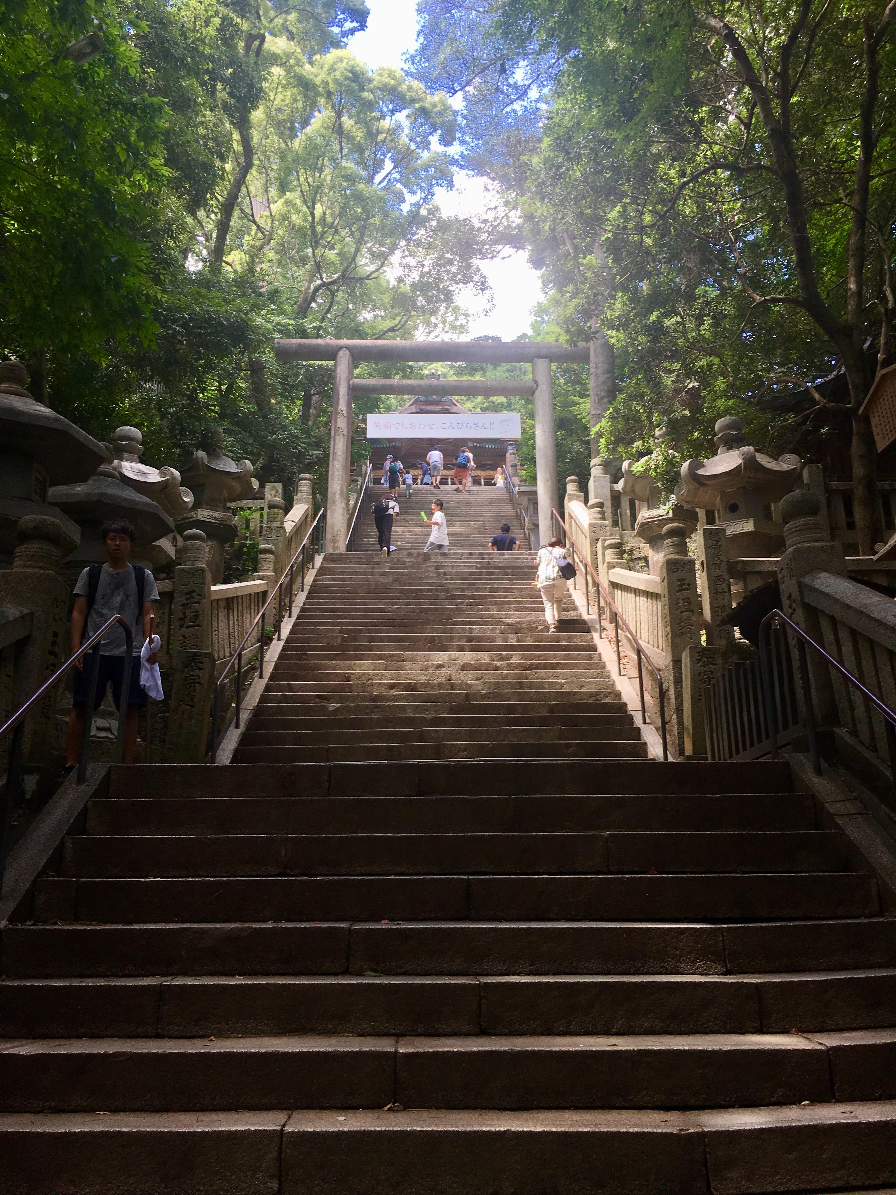 Picture of a ascending stairway to the shrine