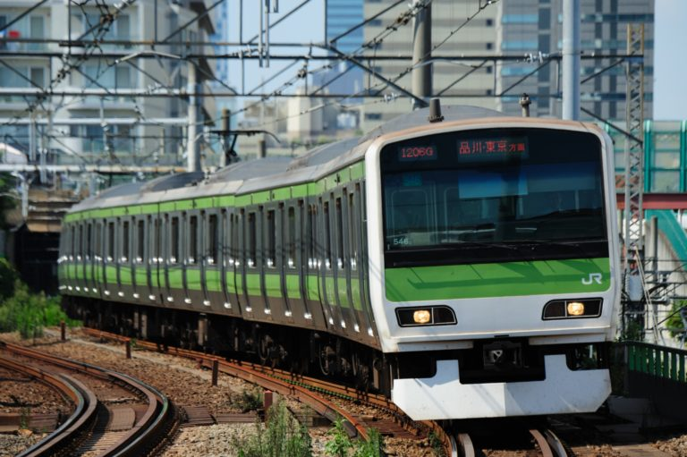 A picture of a train in Japan