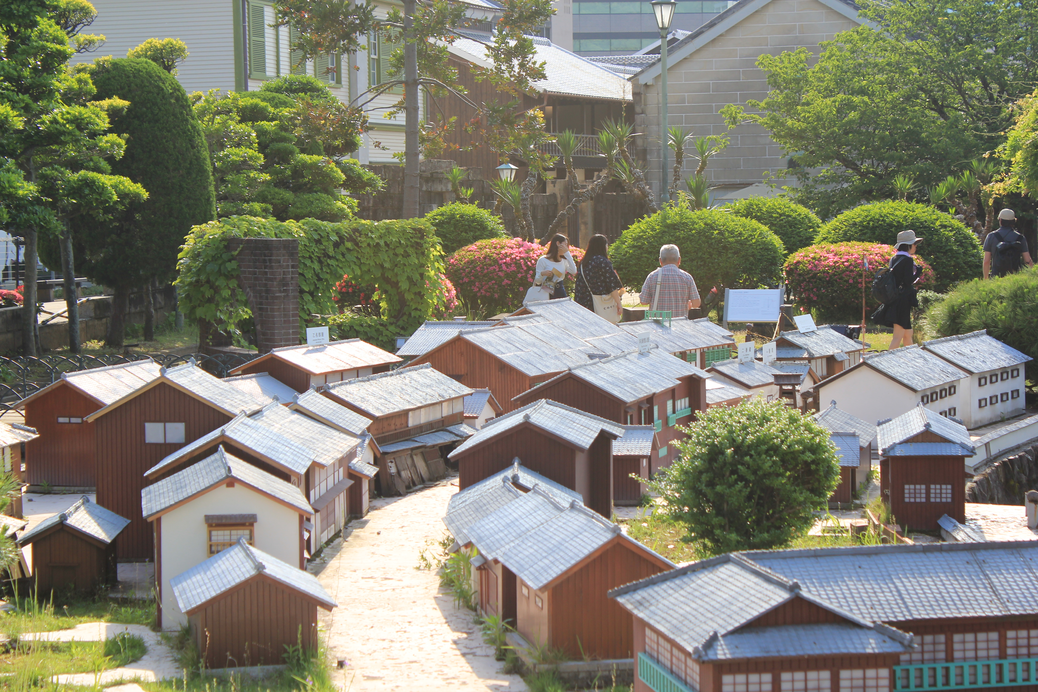 An open-air miniature model of Dejima