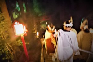 Hada Shrine Togyo Festival: Bringing the mountain god to the sea
