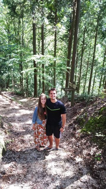 Picture of a man and a woman on one of the hiking trails