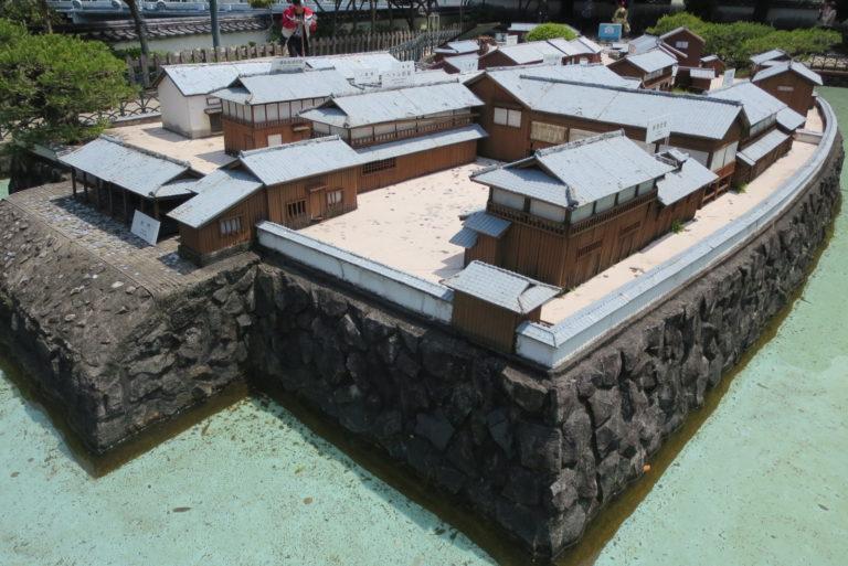 A miniature model of Dejima
