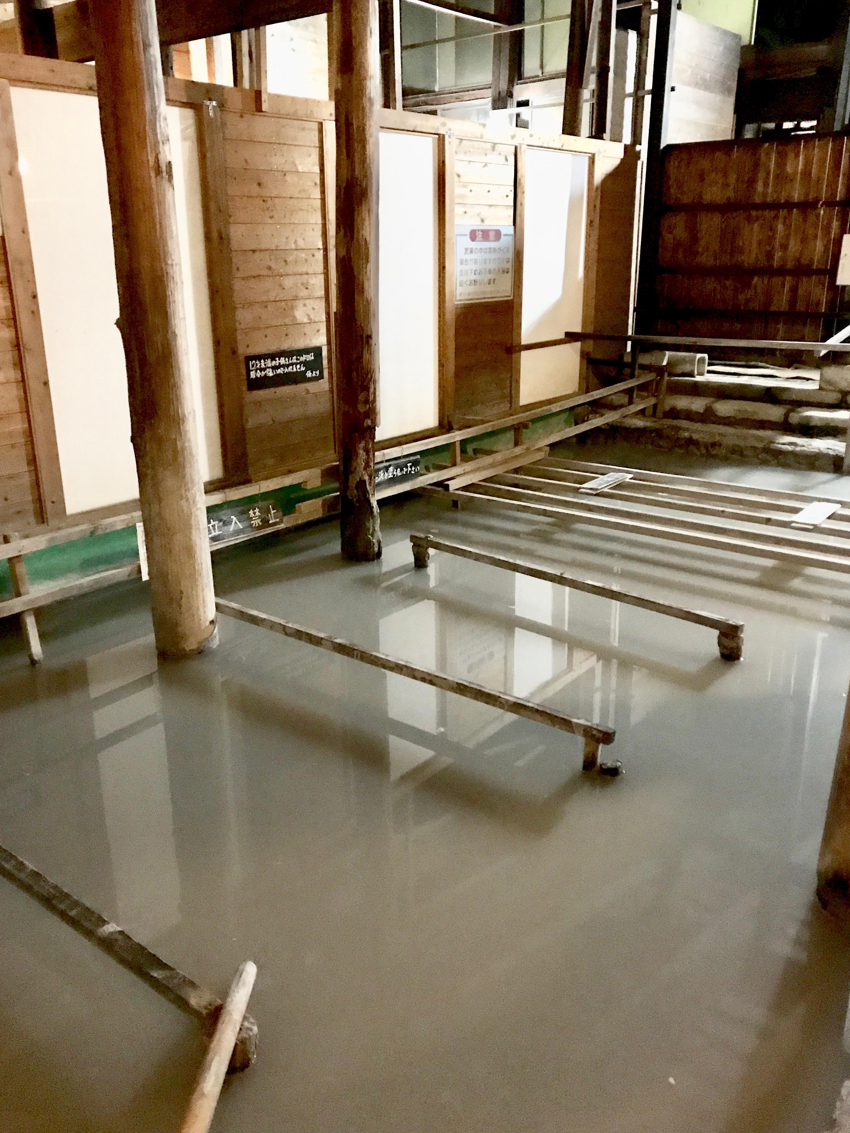 The indoor mud bath