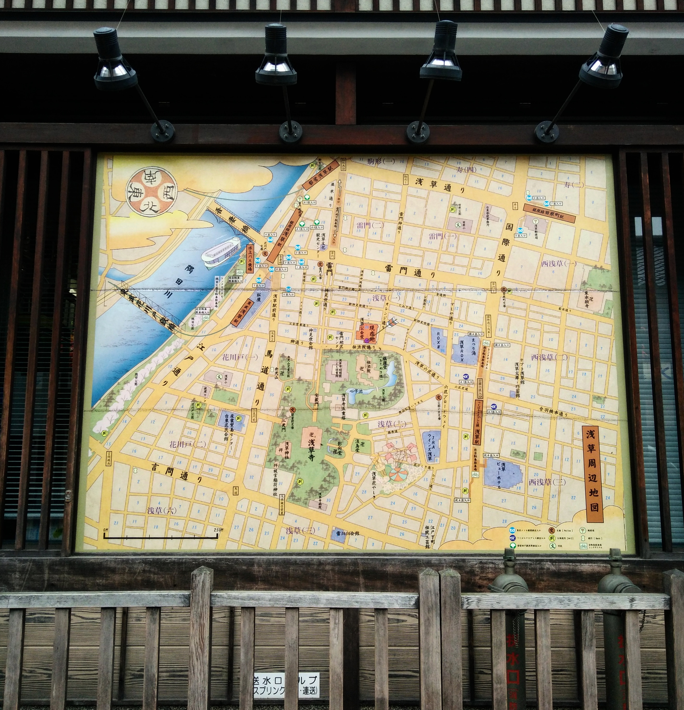 Picture of the map of Asakusa