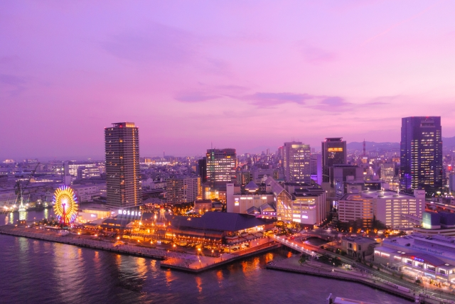 Night view of Kobe Harborland
