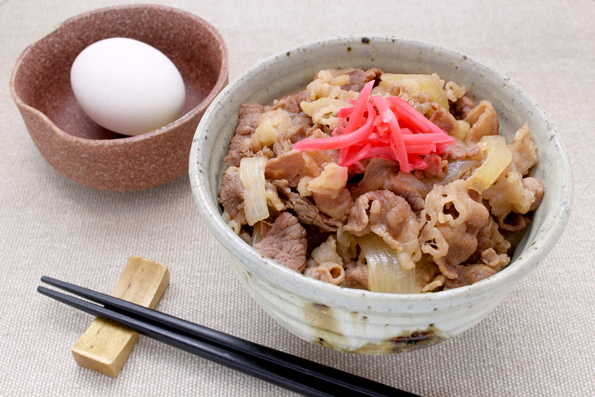 A picture of a bowl of gyudon